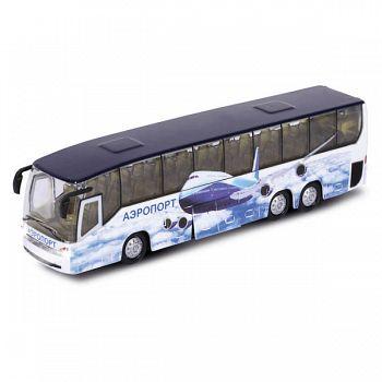 """Автобус металлический инерционный """"Аэропорт"""" (Технопарк CT10-025(SB))"""
