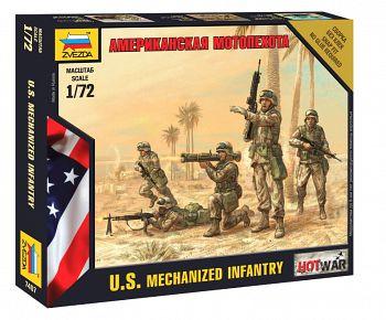 """Набор миниатюр """"Hot War. Американская мотопехота"""" (Звезда 7407)"""