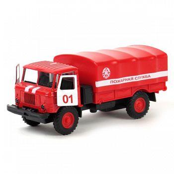 """Машина металлическая инерционная """"ГАЗ 66. Пожарная служба"""" (Технопарк CT-1299-1)"""