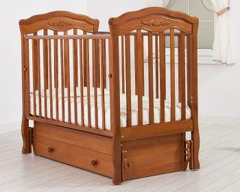 """Кровать с маятником 120x60 Гандылян """"Шарлотта"""" вишня (К-2003-2мв)"""