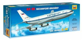 """Сборная модель """"Пассажирский авиалайнер Ил-86"""" (Звезда 7001)"""
