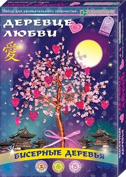 """Набор для изготовления бисерного дерева """"Деревце любви"""" (Клевер АА 46-105)"""