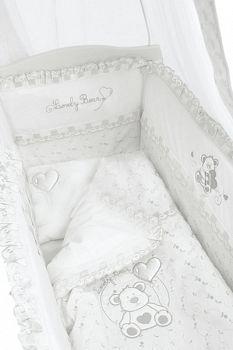 Постельное белье для колыбели Funnababy Lovely Bear White