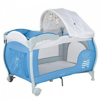 Манеж Happy Baby Lagoon Blue (2650)