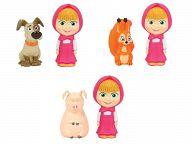 """Игровой набор для ванны """"Маша и Медведь. Маша с животными"""" (2 штуки)"""