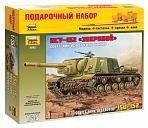 """Сборная модель """"Подарочный набор. Советский истребитель танков ИСУ-152 """"Зверобой"""""""