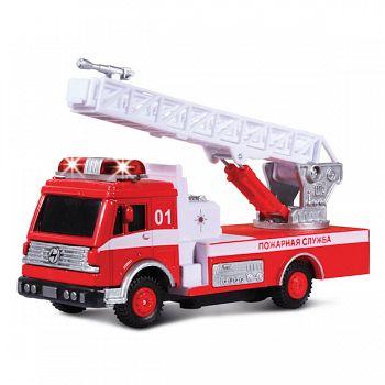 """Машина металлическая инерционная """"Пожарная служба"""" (Технопарк CT1061 (SL999WB))"""