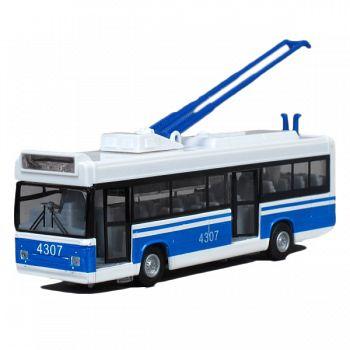 Троллейбус металлический инерционный (Технопарк CT12-434-1-2)
