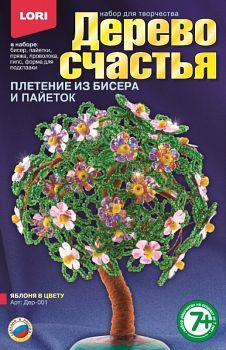 """Плетение из бисера и пайеток """"Дерево счастья. Яблоня в цвету"""" (Lori Дер-001)"""