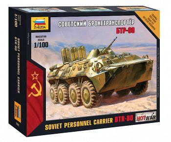 """Сборная модель """"Hot War. Советский бронетранспортер БТР-80"""" (Звезда 7401)"""