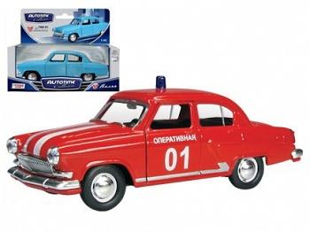 """Модель автомобиля """"ГАЗ-21 ВОЛГА. Пожарная"""" (Autotime Collection 34105W)"""