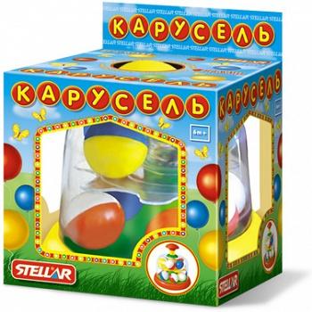 "Юла прозрачная с шариками ""Карусель"" (Stellar 01322)"