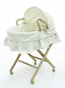 Корзина-переноска плетеная с капюшоном Funnababy Luna Elegant