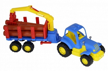 """Трактор с полуприцепом-лесовозом """"Крепыш"""" (Полесье 44815)"""