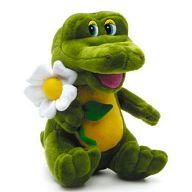 """Мягкая игрушка """"Крокодил Гоша с ромашкой"""""""