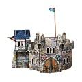 """Сборная модель из картона """"Круглая башня"""" (20 деталей)"""