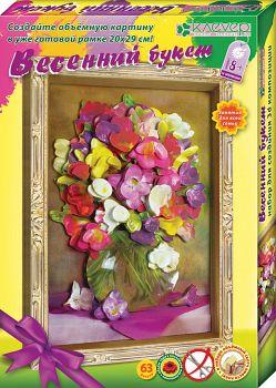 """Набор для создания объемной картины """"Цветочные букеты. Весенний букет"""" (Клевер АБ 21-132)"""