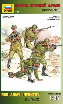 """Сборная модель """"Пехота красной армии. Набор №2"""" (Звезда 3502)"""