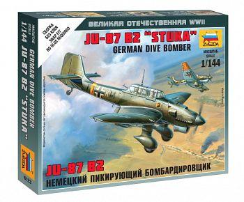 """Сборная модель """"Великая Отечественная. Немецкий пикирующий бомбардировщик Ju-87 B2 """"Stuka"""" (Звезда 6123)"""