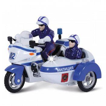 """Мотоцикл металлический инерционный с фигурками """"Полиция"""" (Технопарк CT-1247-2)"""