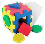 """Кубик-сортер из мягкого полимера """"Геометрия"""""""