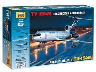 """Сборная модель """"Российский авиалайнер ТУ-154М"""""""