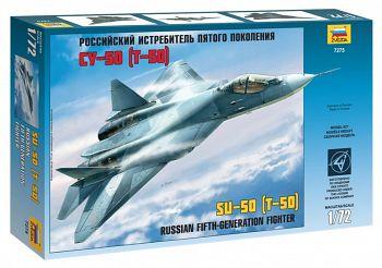 """Сборная модель """"Российский истребитель пятого поколения Су-50"""" (Звезда 7275)"""