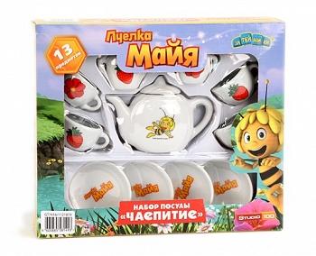 """Набор игрушечной фарфоровой посуды """"Пчёлка Майя. Чайный сервиз"""" (GT7416)"""