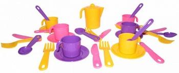 """Набор игрушечной посуды на 6 персон """"Анюта"""" (Полесье 3858)"""