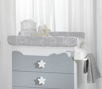 Чехол на пеленальный матрасик Micuna Dolce Luce белый/серый (TX-1152)