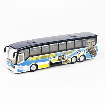 """Автобус металлический инерционный """"Санкт-Петербург"""" (Технопарк CT10-025-3)"""