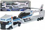 """Модель тягача с вертолетом """"SCANIA TRANSPORT. Полиция"""""""