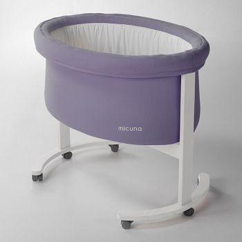 Колыбель Micuna Smart фиолетовый/белый (MO-1457)