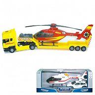 """Модель тягача с вертолетом """"SCANIA TRANSPORT"""""""