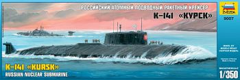 """Сборная модель """"Российский атомный подводный ракетный крейсер К-141 """"Курск"""" (Звезда 9007)"""