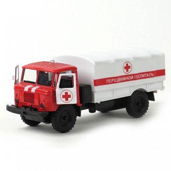 """Машина металлическая инерционная """"ГАЗ 66. Передвижной госпиталь"""" (Технопарк CT-1299-24)"""