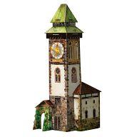 """Сборная модель из картона """"Башня с часами"""" (30 деталей)"""
