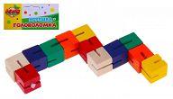 """Деревянная игрушка-головоломка """"Змейка - кубики"""""""