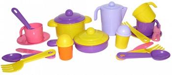 """Набор игрушечной посуды на 3 персоны """"Настенька"""" (Полесье 3919)"""