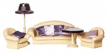 """Набор мебели для кукол """"Коллекция. Гостиная. Мягкая мебель"""" (Огонек С-1302)"""