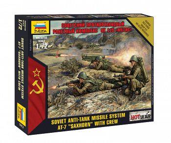 """Набор миниатюр """"Hot War. Советский противотанковый ракетный комплекс 9К115 """"Метис"""" (Звезда 7413)"""
