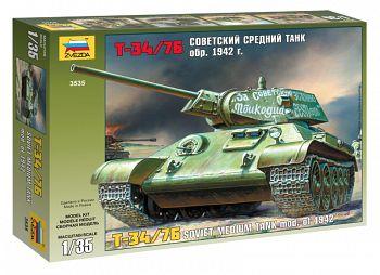 """Сборная модель """"Советский средний танк Т-34/76 1942"""" (Звезда 3535)"""
