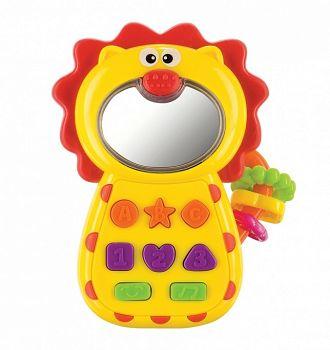 """Погремушка-прорезыватель """"Leo-Phone"""" (Happy Baby 330055)"""