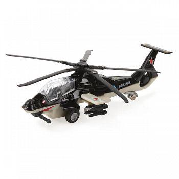 """Вертолет металлический инерционный """"Военный"""" (Технопарк SL362-2-SB)"""