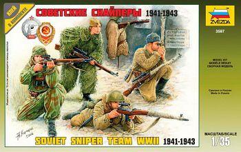 """Сборная модель """"Советские снайперы 1941-1943"""" (Звезда 3597)"""