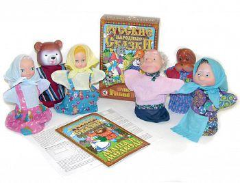 """Домашний кукольный театр """"Русские народные сказки. Маша и медведь"""" (Русский стиль 11203)"""