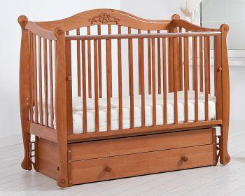 """Кровать с маятником 120x60 Гандылян """"Моника"""" вишня (К-2002-20мв)"""