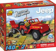 "Конструктор ""Action Town. Jeep Willys MB Fire Brigade"" (140 деталей)"