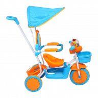 Велосипед-каталка трехколесный с козырьком