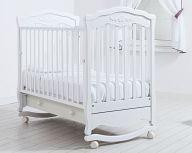 """Кровать 120x60 Гандылян """"Шарлотта"""" белый"""